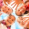 Happy children having fun together